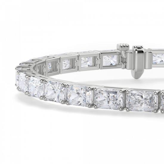 Теннисный браслет с бриллиантами Радиант,  Больше Изображение 2