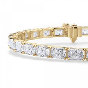 Теннисный браслет из золота с прямоугольными бриллиантами