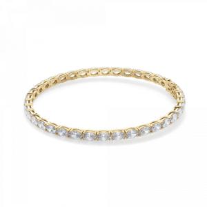 Теннисный браслет золотой с овальными бриллиантами