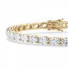 Теннисный браслет золотой с овальными бриллиантами, Изображение 2