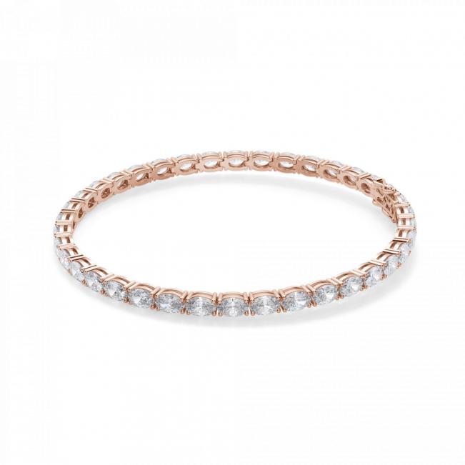 Теннисный браслет с овальными бриллиантами