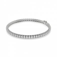 Теннисный браслет с белыми бриллиантами