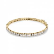 Теннисный браслет золотой с бриллиантами