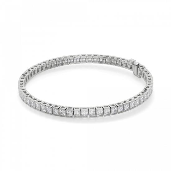 Теннисный браслет с бриллиантами Принцесса, Больше Изображение 1