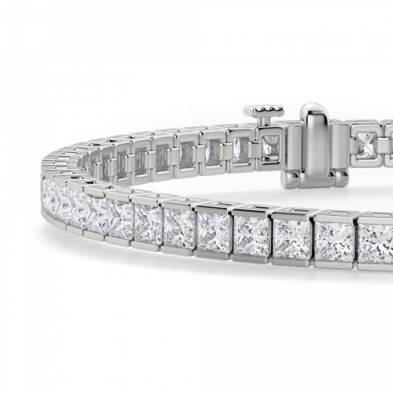 Теннисный браслет с бриллиантами Принцесса,  Больше Изображение 2