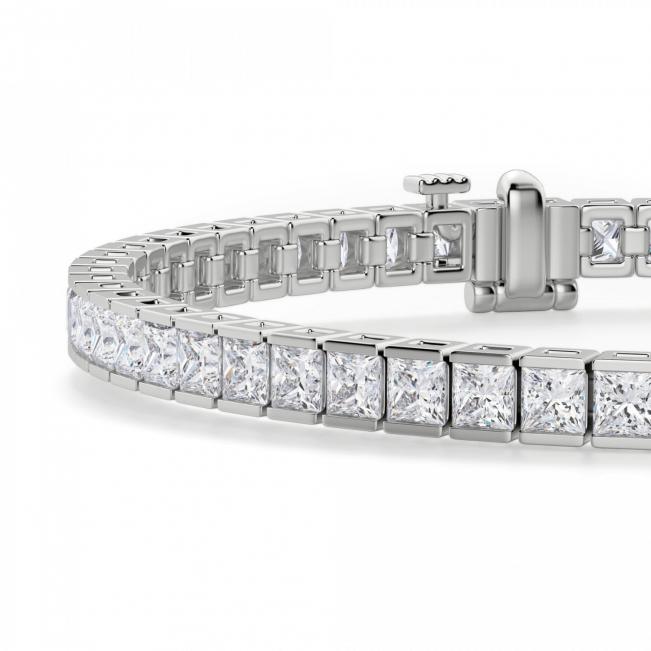 Теннисный браслет с бриллиантами Принцесса