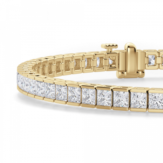 Теннисный браслет с бриллиантами,  Больше Изображение 2