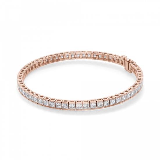 Теннисный браслет с бриллиантами 6.20 кт, Больше Изображение 1