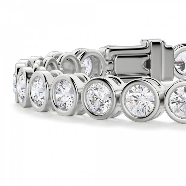 Теннисный браслет с бриллиантами в золоте