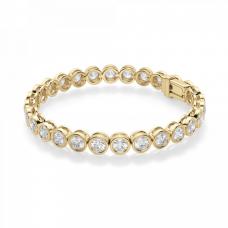 Теннисный браслет из золота с бриллиантами