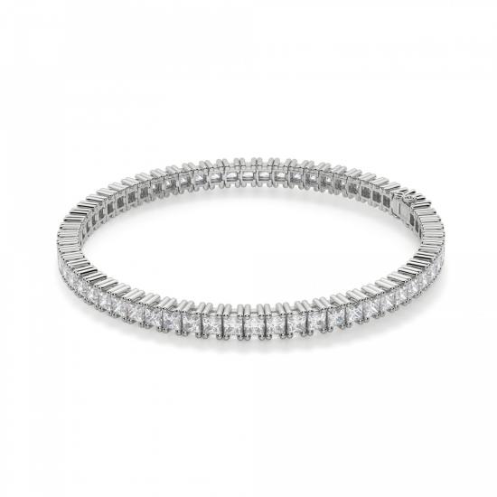 Теннисный браслет с квадратными бриллиантами, Больше Изображение 1