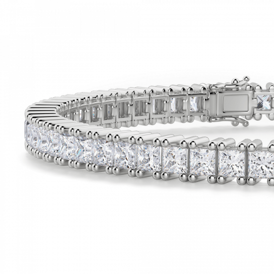 Теннисный браслет с квадратными бриллиантами,  Больше Изображение 2
