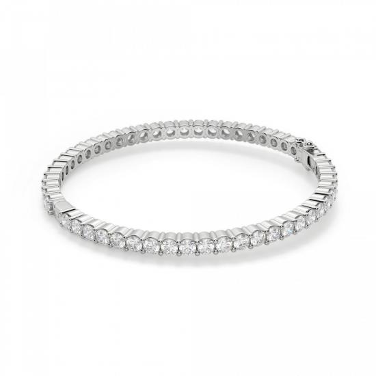 Жесткий теннисный браслет с бриллиантами, Больше Изображение 1