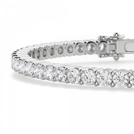 Жесткий теннисный браслет с бриллиантами,  Больше Изображение 2