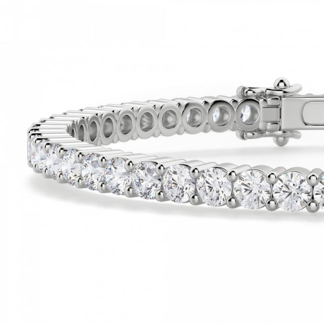 Жесткий теннисный браслет с бриллиантами - Фото 1