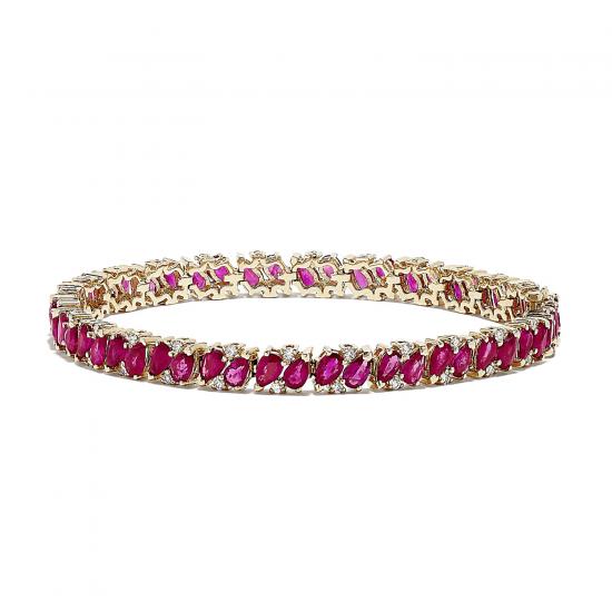 Браслет с рубинами и бриллиантами, Больше Изображение 1