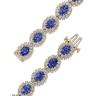 Браслет с овальными танзанитами и бриллиантами, Изображение 2