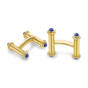 Золотые запонки с сапфирами