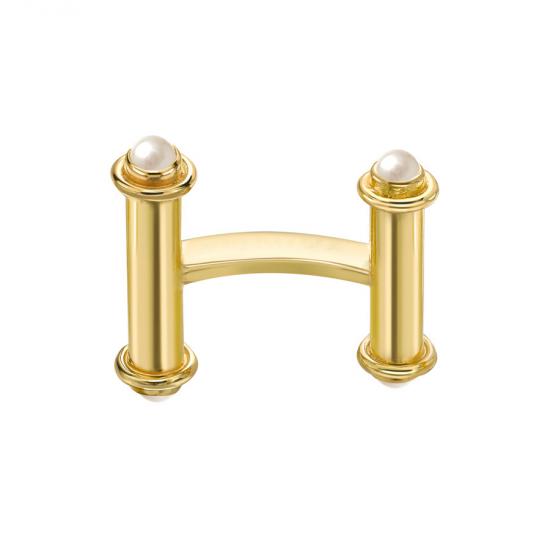 Золотые запонки с жемчугом,  Больше Изображение 2