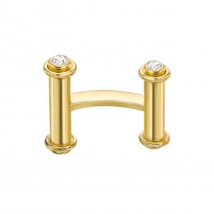 Золотые запонки с бриллиантами - Фото 1