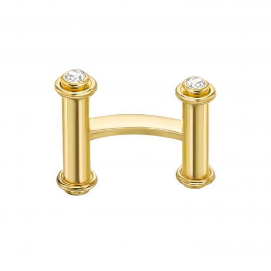 Золотые запонки с бриллиантами,  Больше Изображение 2
