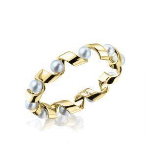 Кольцо Ruban из золота с жемчугом