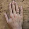 Кольцо из белого золота 750 пробы Ruban, Изображение 2