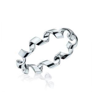 Кольцо из белого золота Ruban