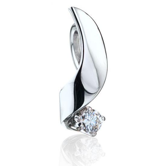 Кулон с бриллиантом 0.10 карата,  Больше Изображение 3