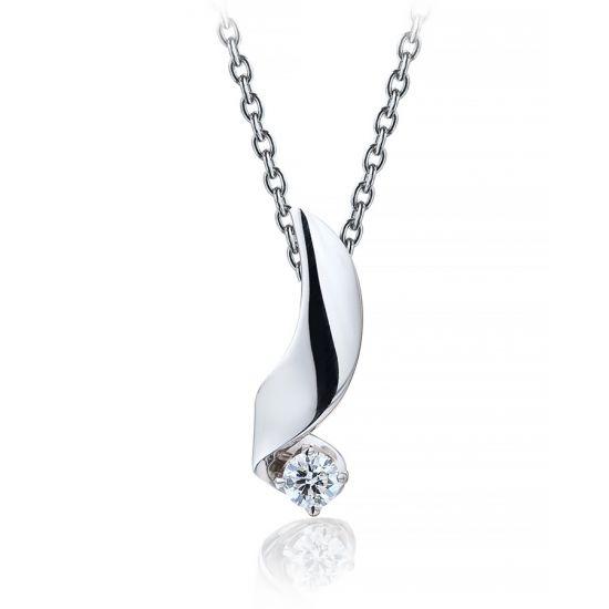 Кулон с бриллиантом 0.10 карата, Больше Изображение 1