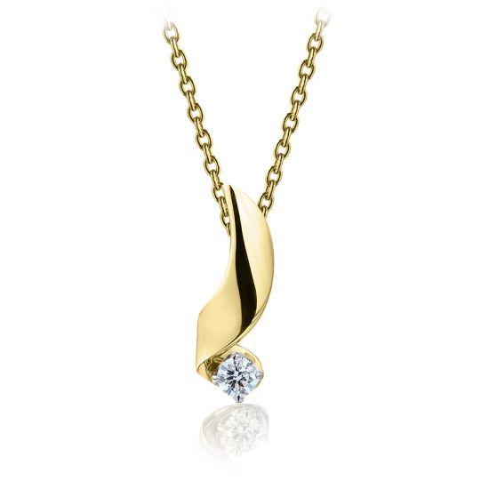 Кулон с бриллиантом 0.10 карата,  Больше Изображение 2