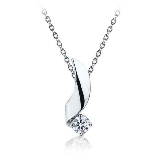 Кулон с бриллиантом 0.33 карата, Больше Изображение 1