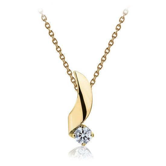 Кулон с бриллиантом 0.33 карата,  Больше Изображение 2