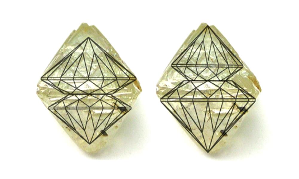 Пример разметки алмаза для получения бриллиантов - PIERRE Журнал